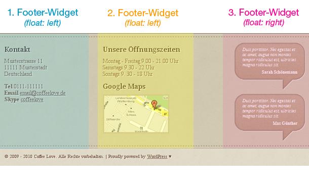 WordPress Tutorial Footer Widgets