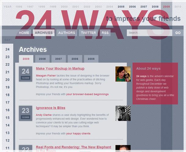 Webdesign Inspiration Blog Archiv