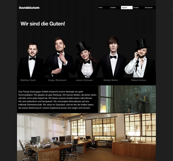 Webdesign Inspirationen About Seite
