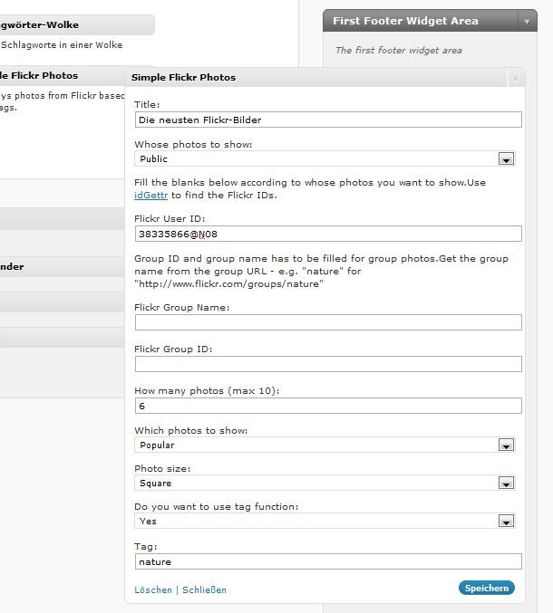 Footer Gestaltung in WordPress