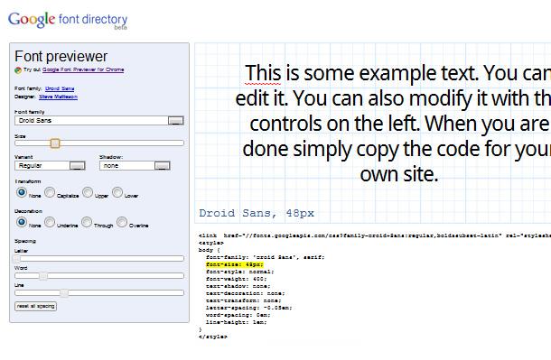 Goole Font API nutzen