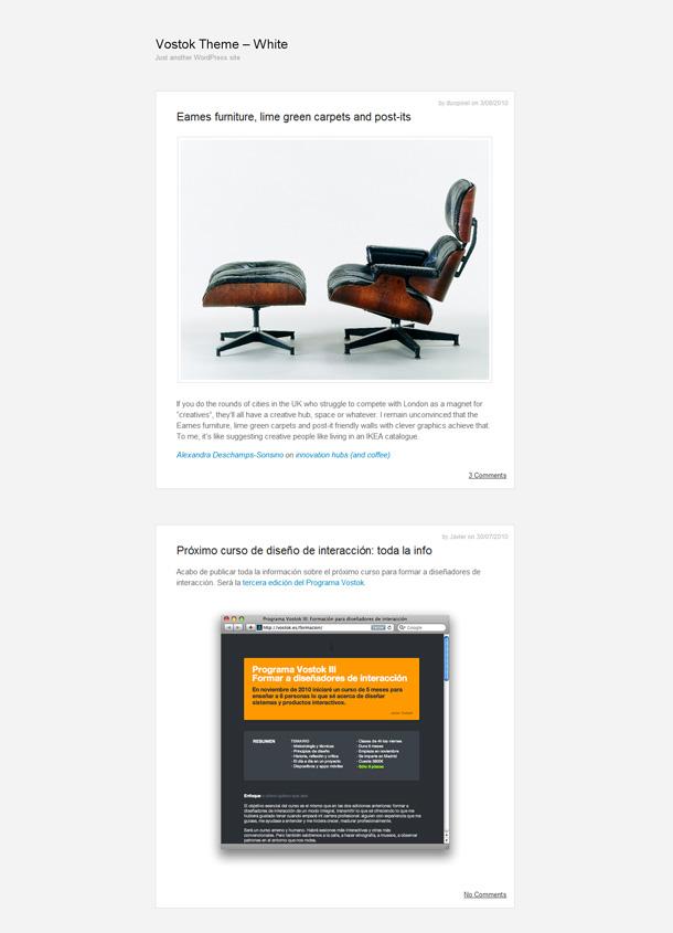 minimalistische WordPress Blog Themes