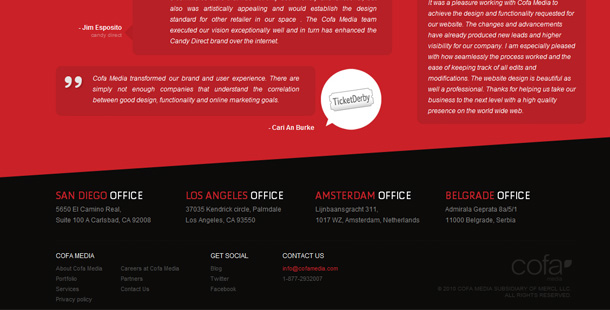 Webseiten Footer Inspiration