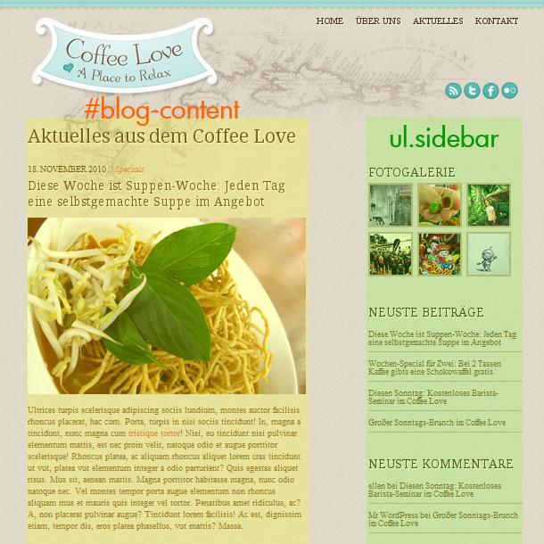 Webseiten Tutorial CoffeeLove Teil12