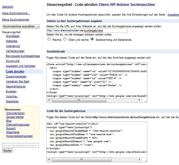 Google benutzerdefinierte Suche nutzen