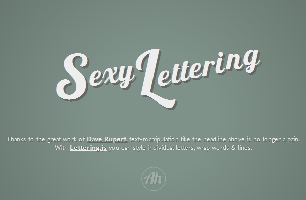 Lettering jQuery Plugin
