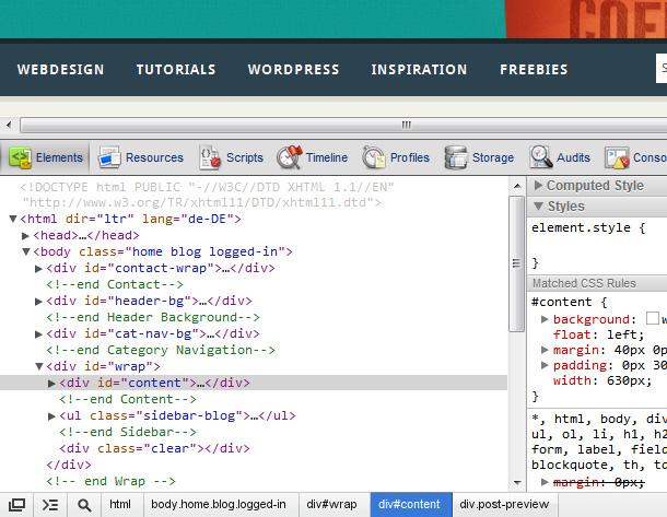 Webdesign direkt im Browser