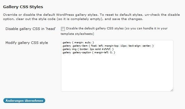 WordPress Bildergalerie nutzen