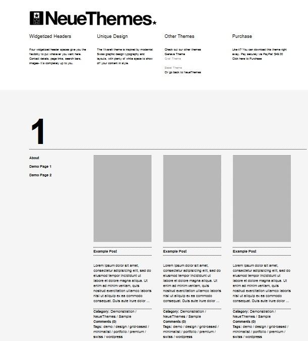 WordPress Themes mit Gridsystem