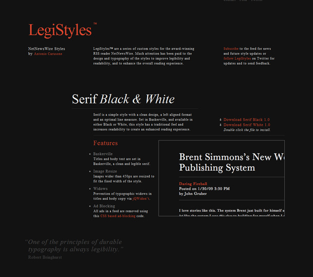 Webdesign Grey Colors