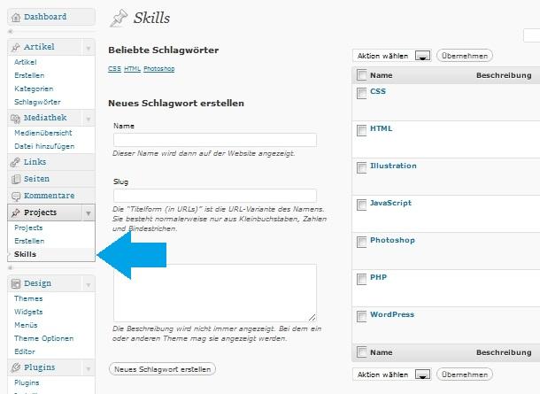 WordPress Custom Post Types anlegen