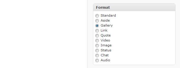 Artikel-Formatvorlage Bildergalerie in WordPress