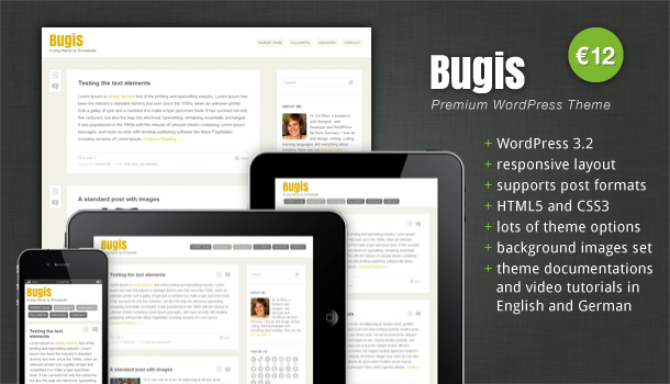 Premium WordPress Theme Bugis