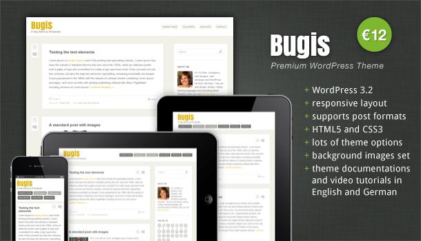 Premium WordPress Theme Bugis