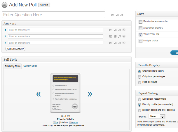Online-Umfrage mit Polldaddy