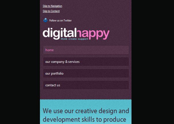 Responsive Webdesign Menus