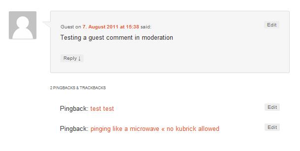 WordPress Pingbacks und Kommentare trennen