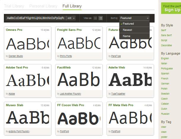 Typekit Schriften nutzen