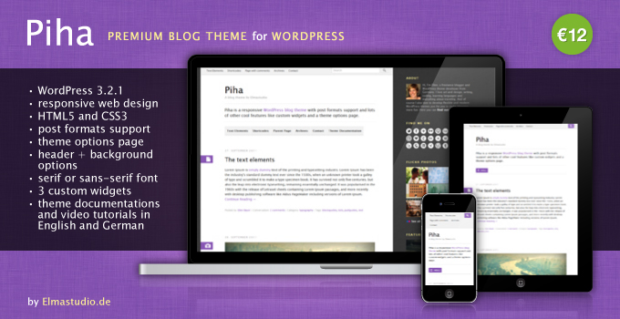 Piha responsive WordPress Theme