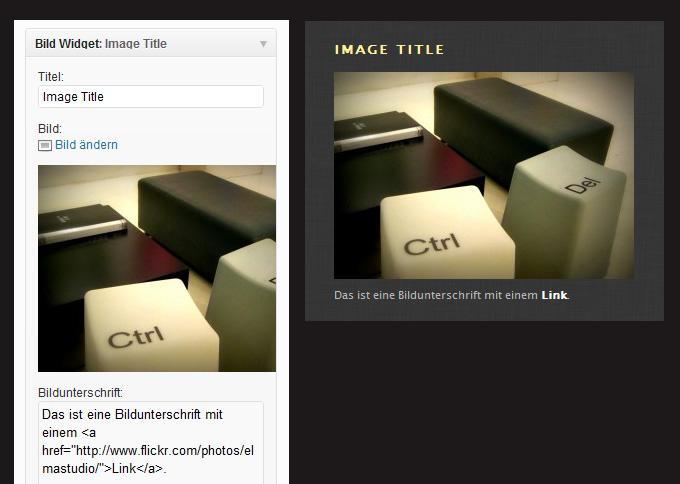 Image Widget WordPress Plugin