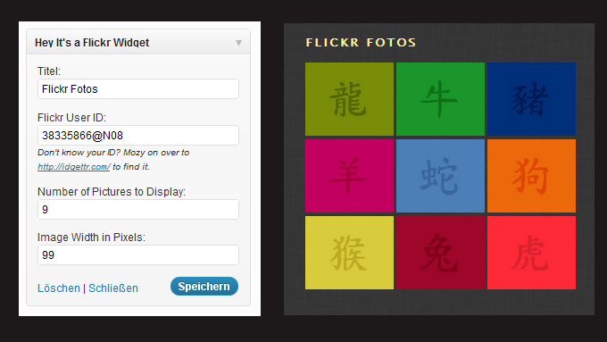 Flickr Widget WordPress Plugin