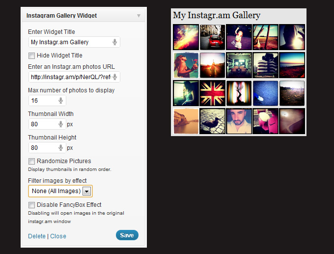 Flickr Widget WordPress Plugin