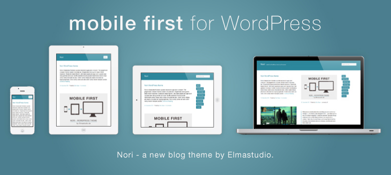 Mobile-first, responsive Premium WordPress-Theme Nori