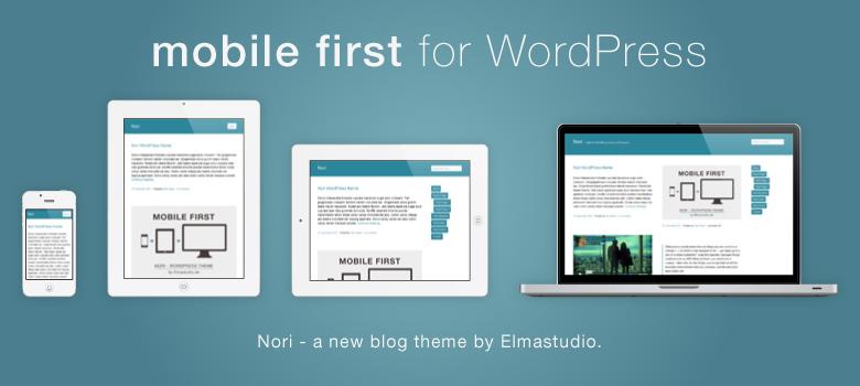 Mobile-first, responsive Premium WordPress-Theme Nori