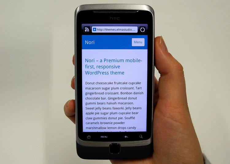 mobile-first WordPress Theme Nori