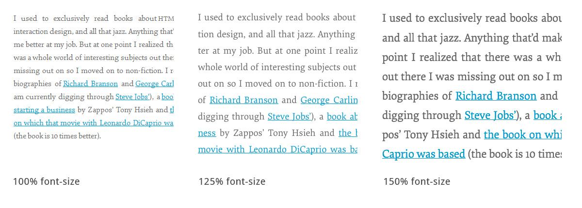 Schrift Optimierung responsive Webdesign