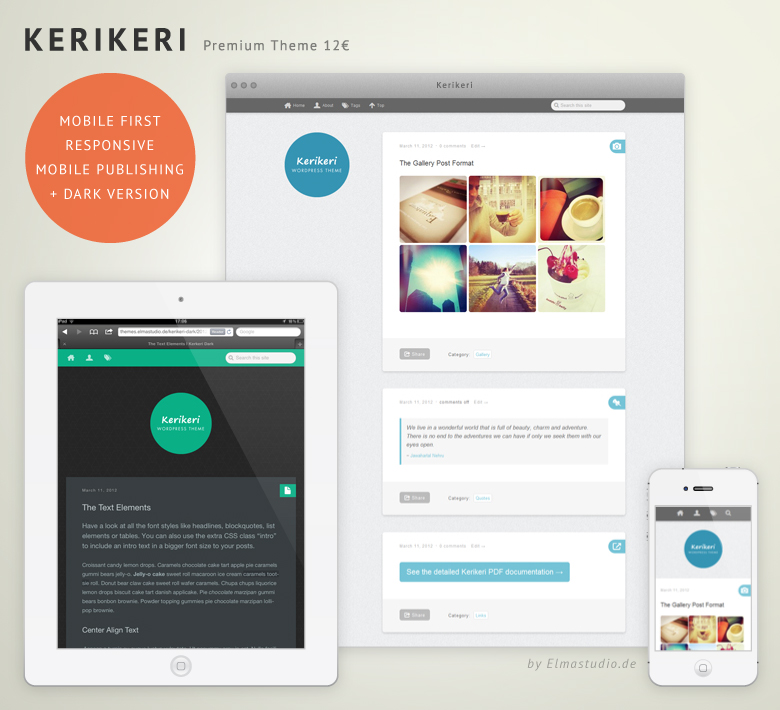 Kerikeri Premium mobile-first, responsive WordPress Theme