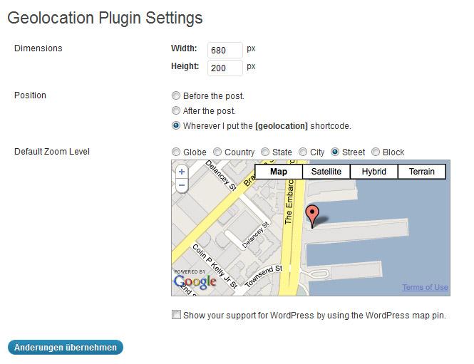Geolocation WordPress Plugin