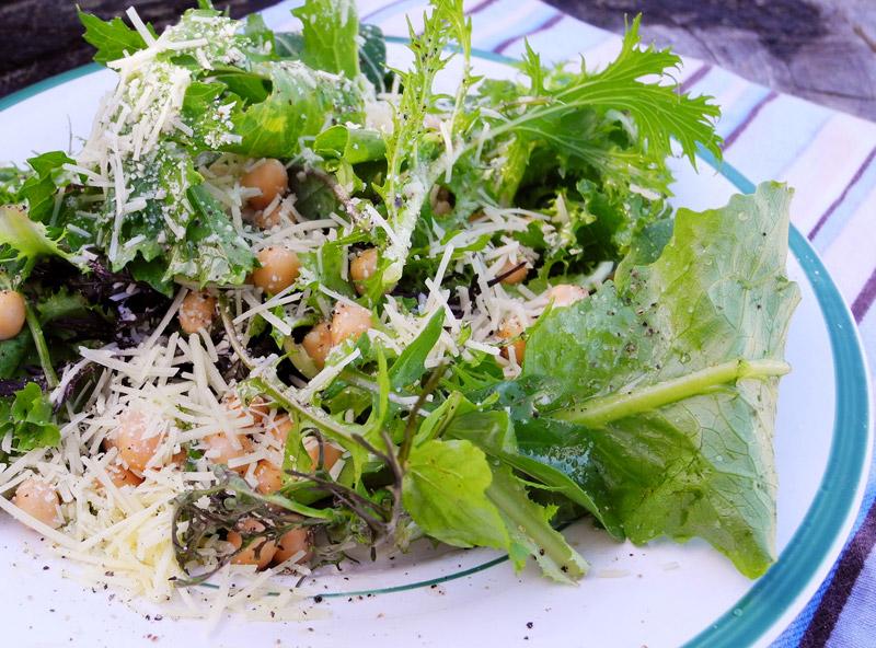 Webworker Lunch Tipps: Grüner Salat mit Kichererbsen