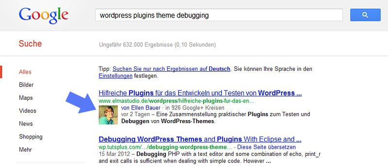 Autoren-Info in Google Suchergebnissen anzeigen mit WordPress