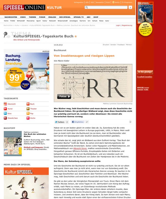 Große Typografie als Webdesign Trend