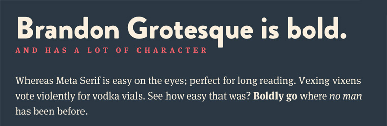 Typekit Webfonts Inspiration