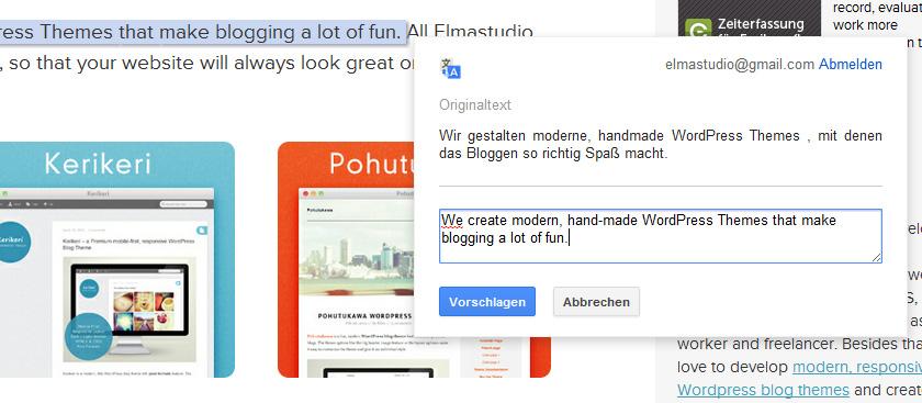 Google Website Übersetzer nutzen