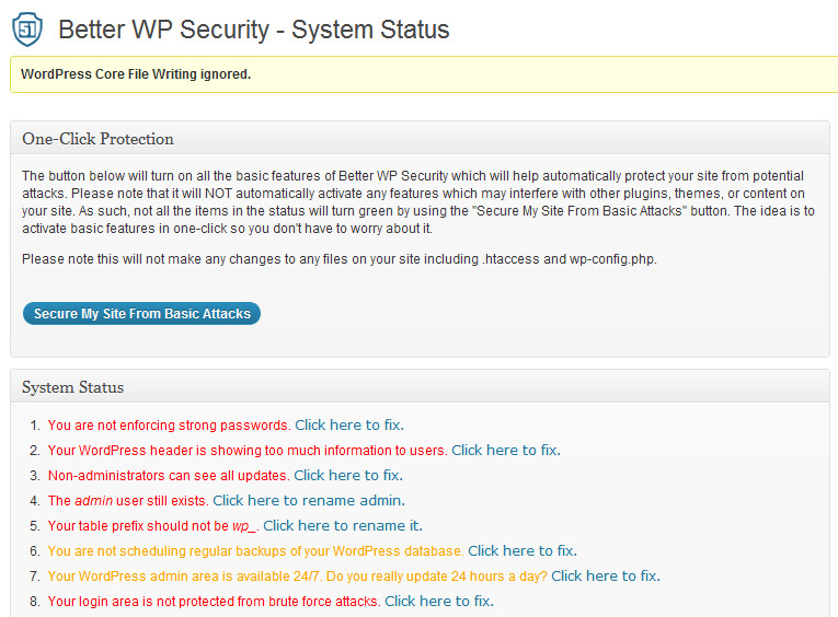 WordPress Security Tipps