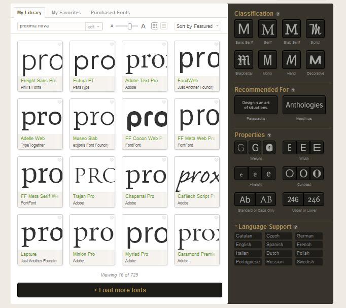 Typekit Webfonts nutzen