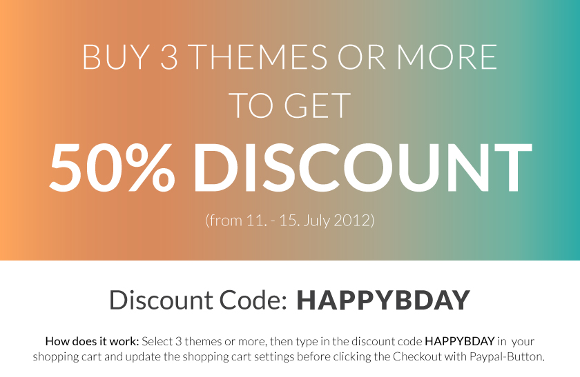 Birthday Theme Discount Coupon