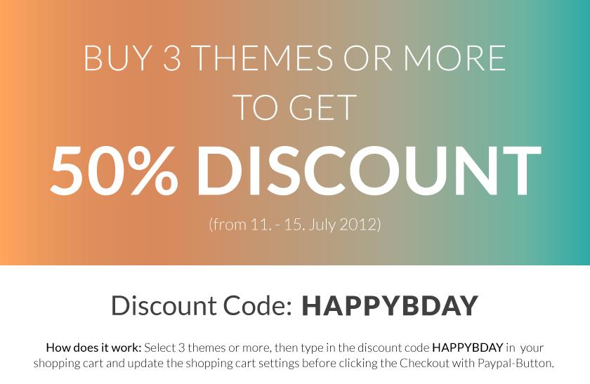 Birthday Theme Discount Coupon