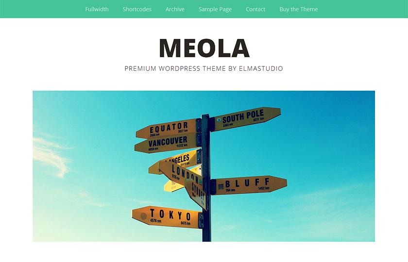 Meola mit Headerbild