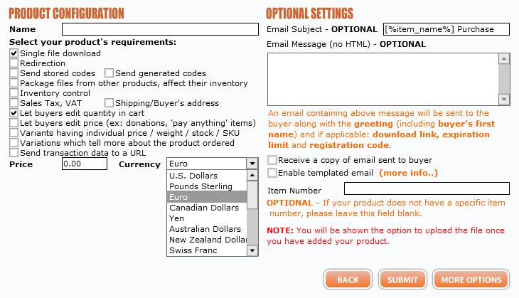 E-junkie Produkt einstellen