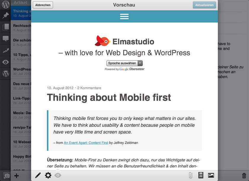 WordPress für iOS