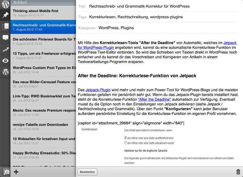 WordPress für iOS
