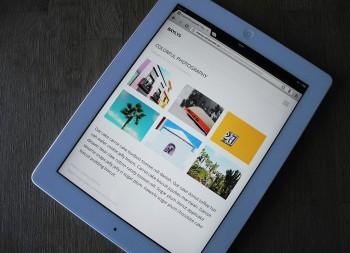 Das Baylys Portfolio auf einem iPad