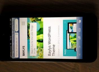 Das Baylys-Theme auf dem iPhone5
