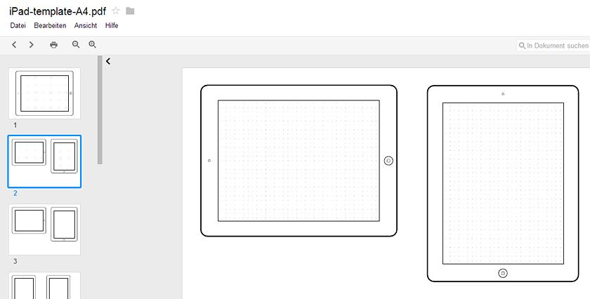 Layout Skizzen-Vorlagen für responsive Webdesigns