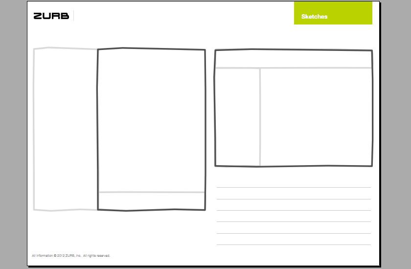 Responsive Sketchsheets von Zurb