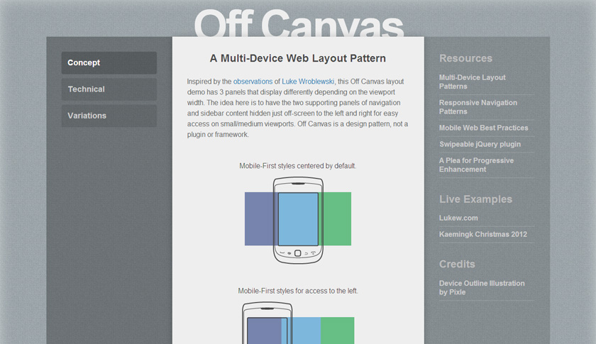 Off Canvas Demo von Jason Weaver